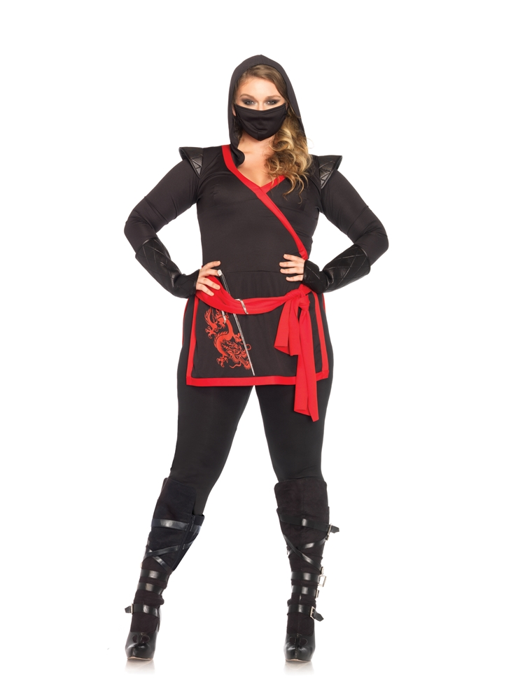 Sexy Ninja Assassin Adult Womens Plus Size Costume by Leg Avenue
