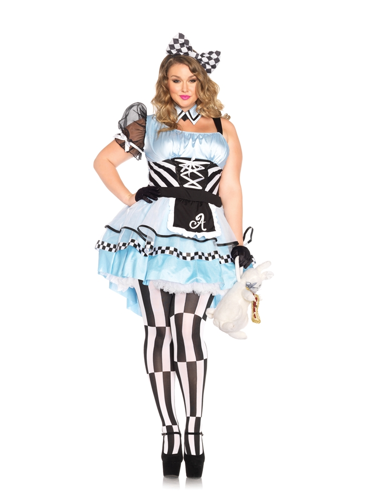 Psychedelic Alice Adult Womens Plus Size Costume