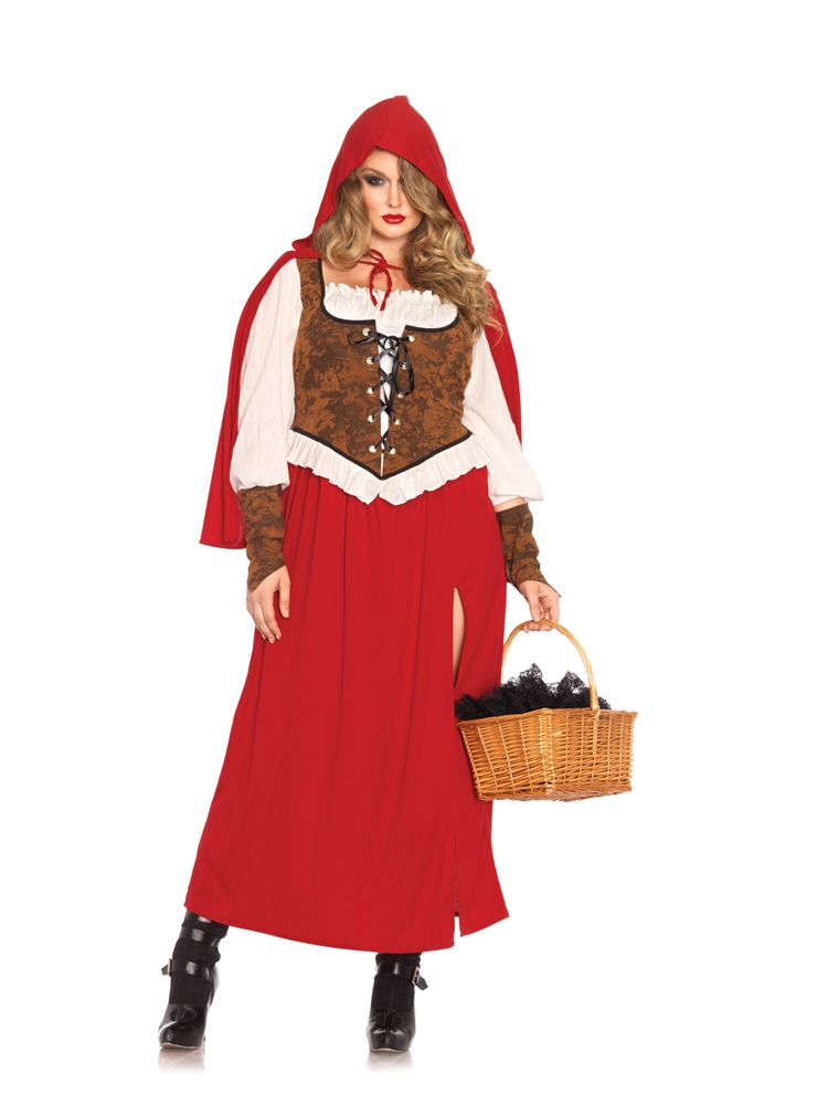 Woodland Red Riding Hood Adult Womens Plus Size Costume by Leg Avenue