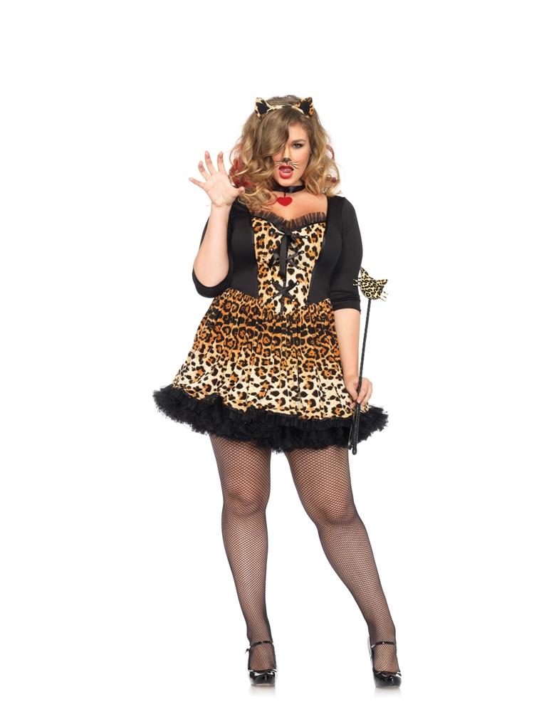 Wildcat Leopard Adult Womens Plus Size Costume