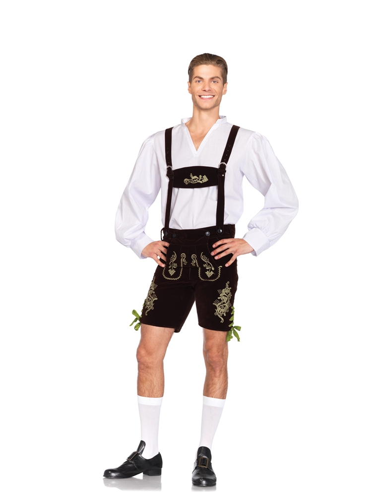 Oktoberfest Lederhosen Adult Mens Costume by Leg Avenue