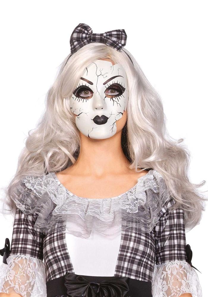 Pretty Porcelain Doll Mask 346978 Trendyhalloweencom