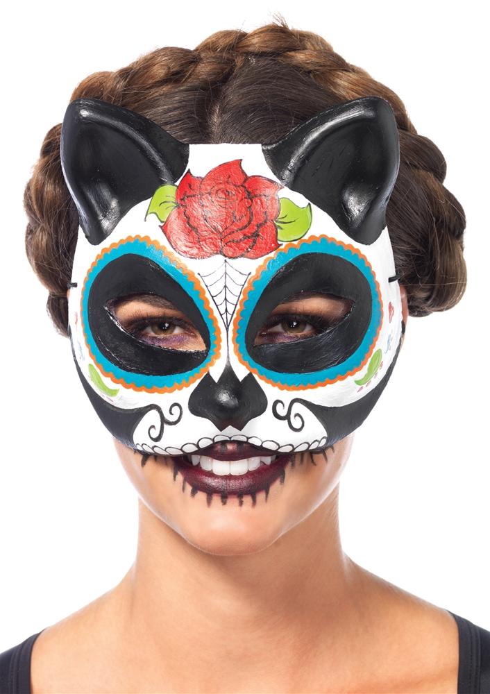 Sugar Skull Cat Mask - 346979 | trendyhalloween.com