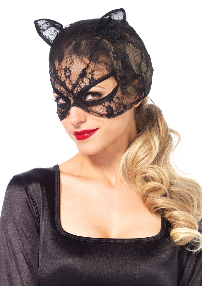 Lace-Up Cat Mask