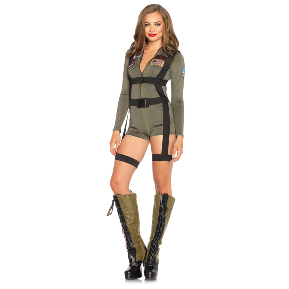 Top Gun Romper Adult Womens Costume