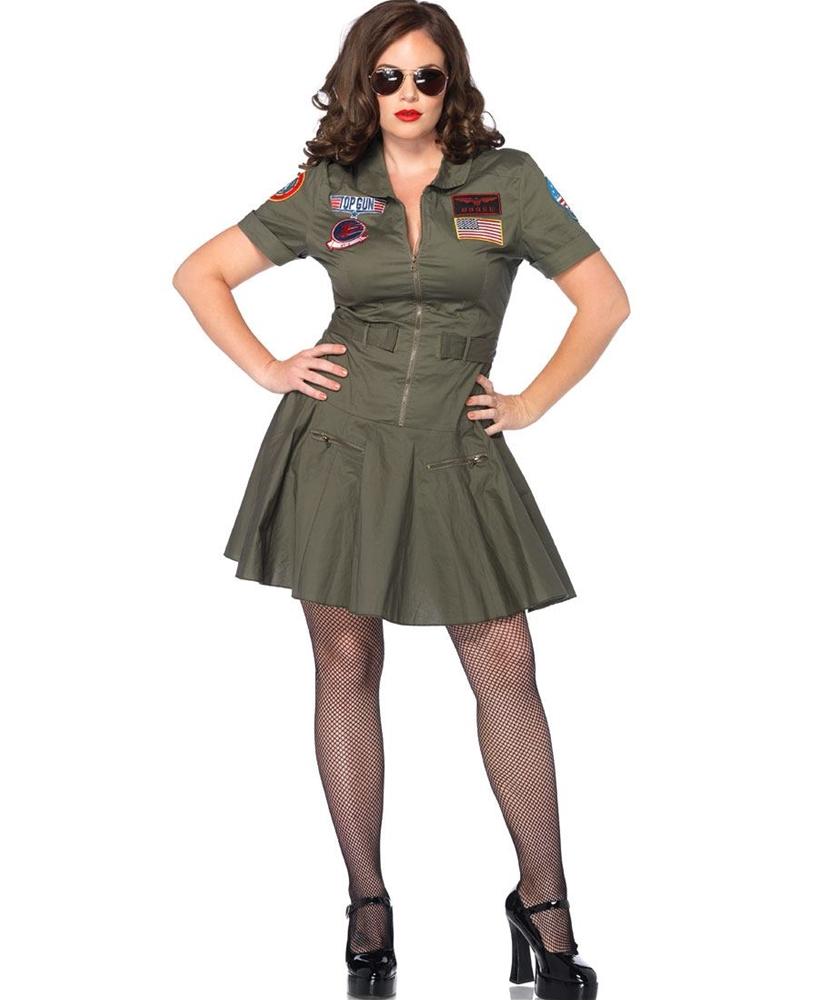 Top Gun Flight Dress Adult Womens Plus Size Costume