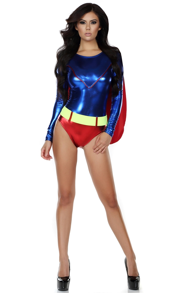 Dashing Defeater Sexy Hero Adult Womens Costume