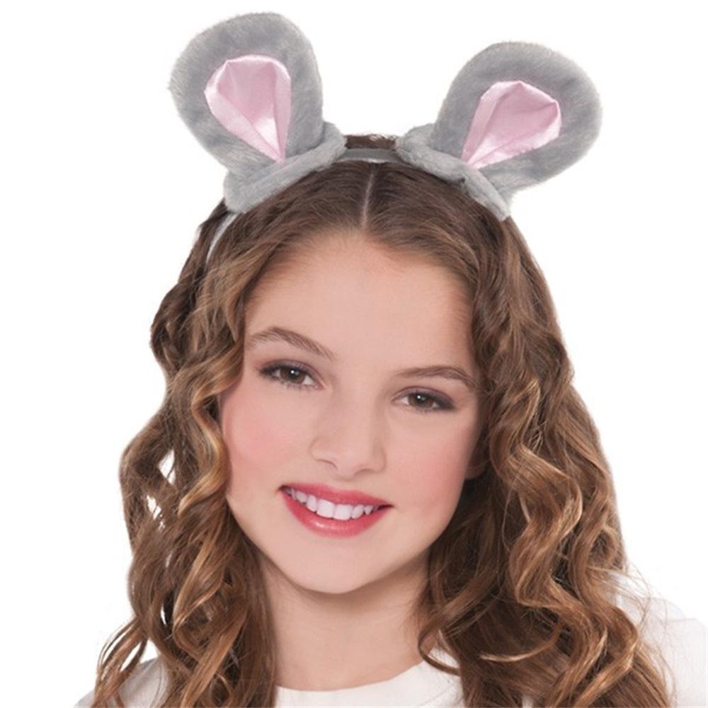 Grey Mouse Ears Headband