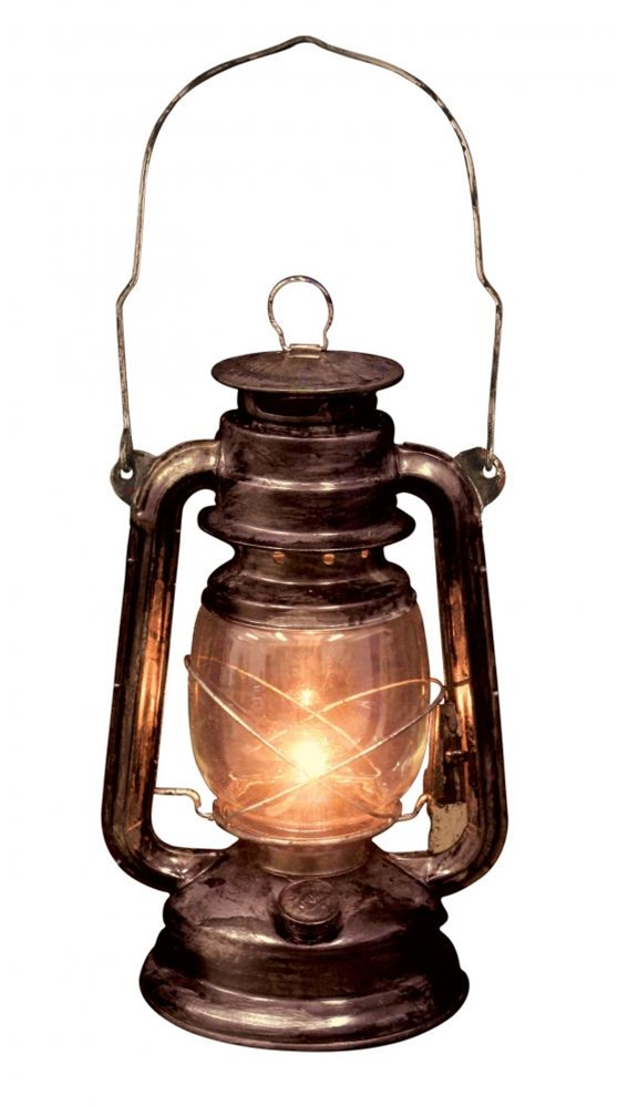 Light Up Old Lantern With Led Light 348988