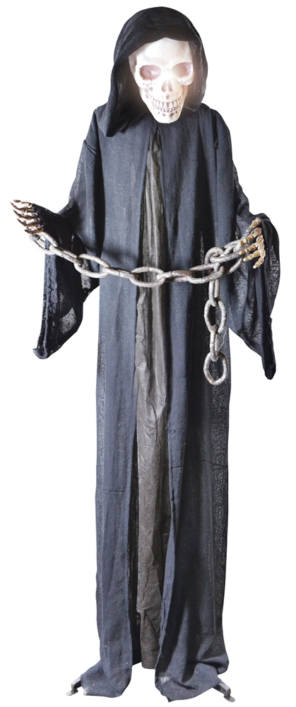 Life-Sized Black Reaper in Chains Prop