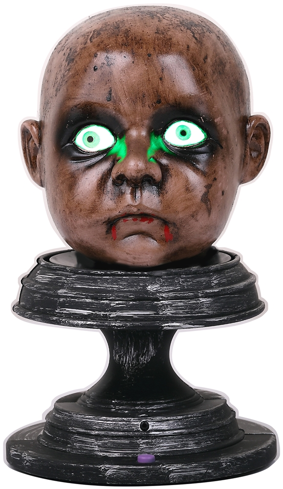 Severed Zombie Baby Head Prop