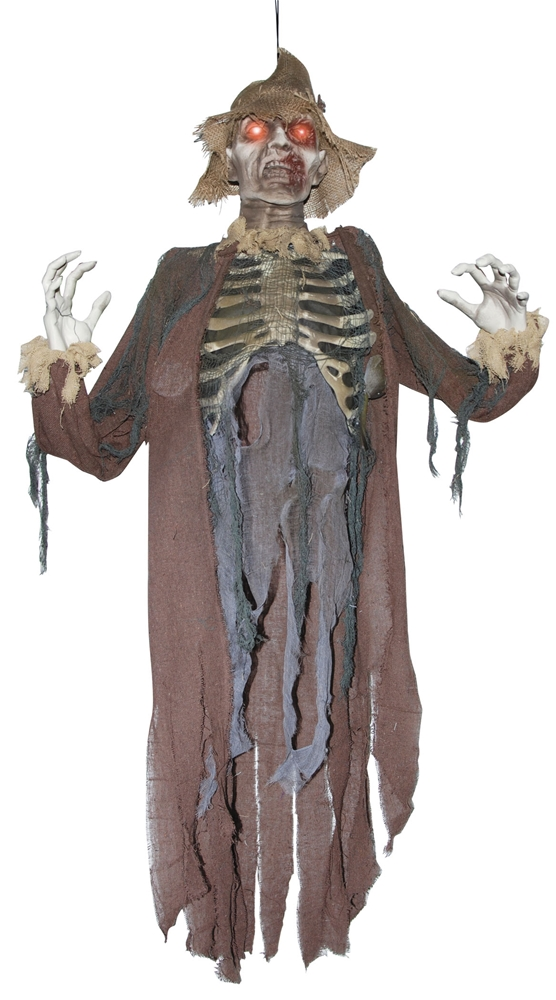 Light-Up Scarecrow Zombie Hanging Prop