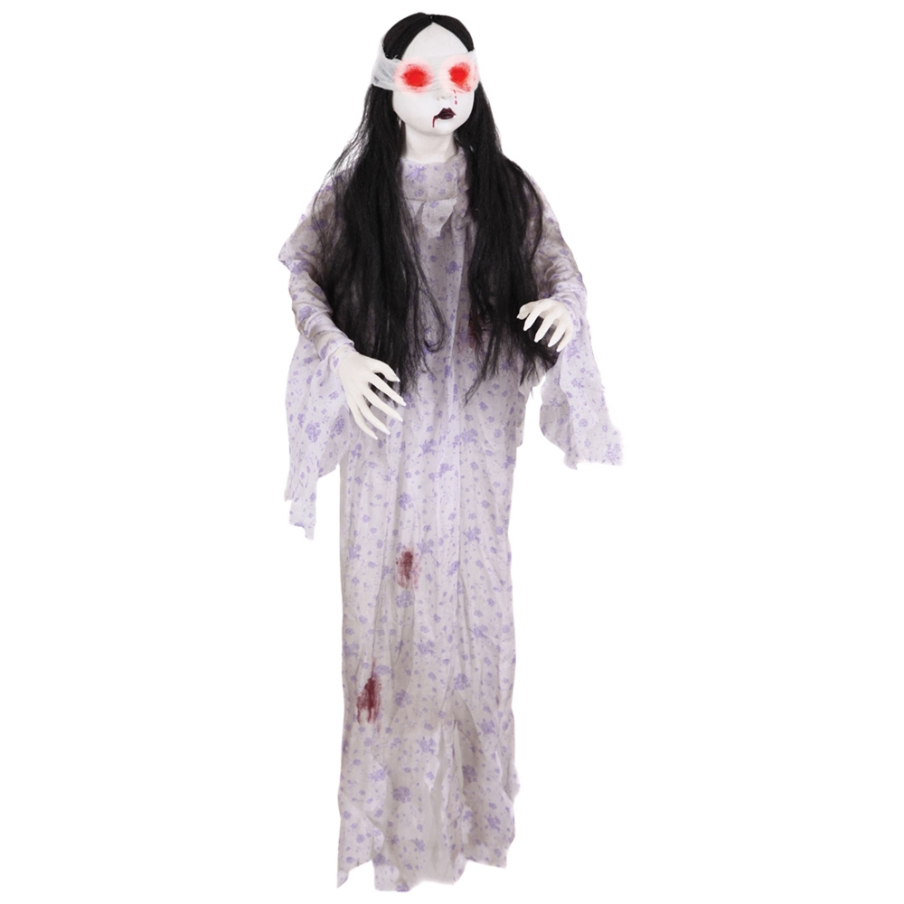 Light-Up Bloody Doll in Pajamas Prop