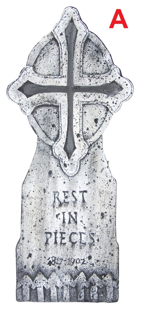 Tombstone with Cross (More Styles)