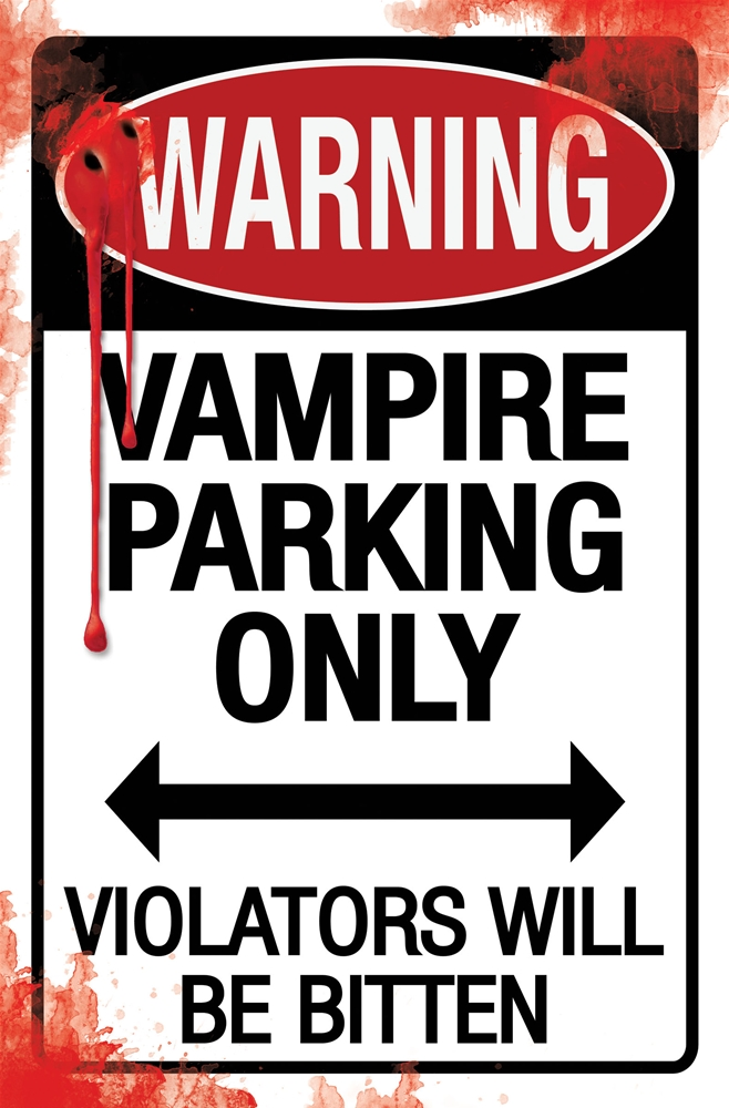 Metal Halloween Parking Sign (More Styles)
