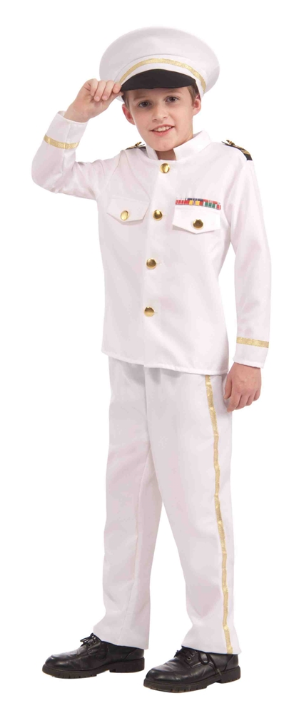 Navy Admiral Child Costume