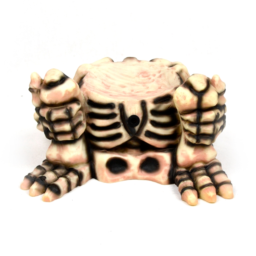 Small Skeleton Pumpkin Decoration Display