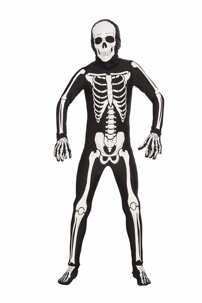 Disappearing Man Bones Teen Bodysuit