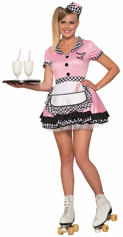 [50s Trixie Sue Diner Gal Adult Womens Costume] (50s Costumes Women)