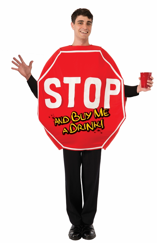 Stop Sign Adult Unisex Costume