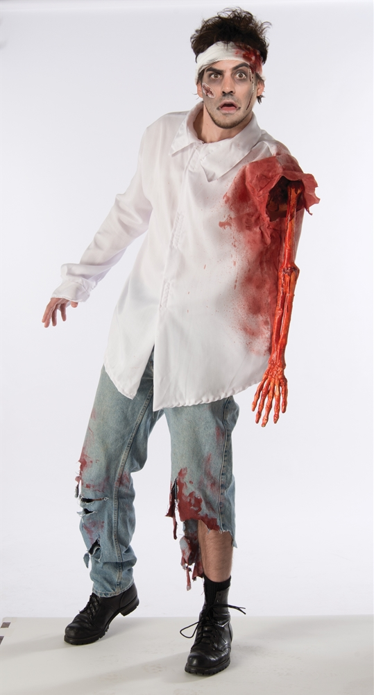 Zombie Attack Adult Mens Shirt