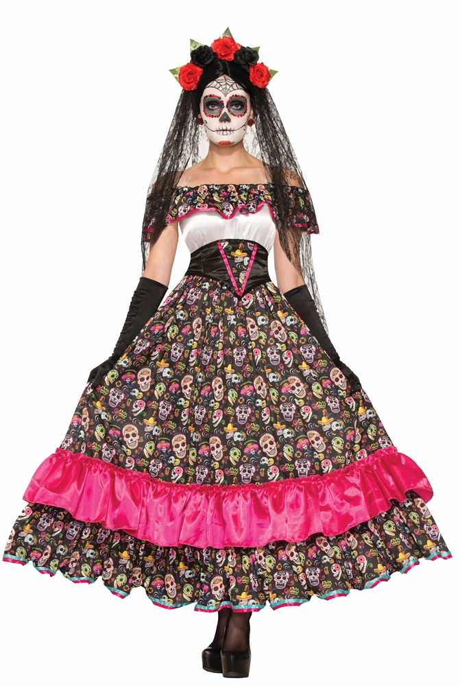 Day of the Dead Spanish Lady Adult Womens Costume