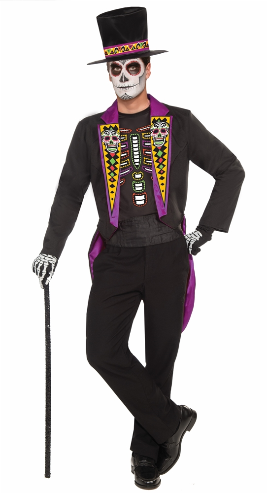 Formal Day of the Dead Adult Mens Costume