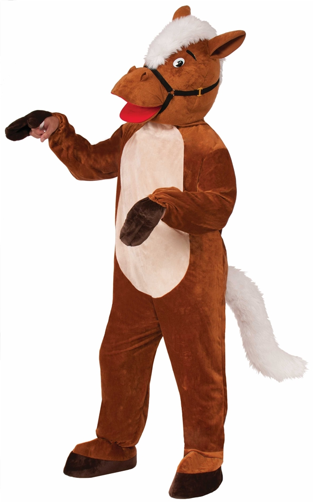 Henry the Horse Mascot Jumpsuit Adult Unisex Costume