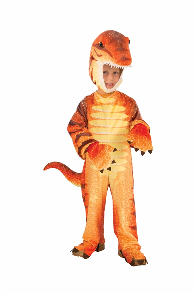 Orange Plush Raptor Child & Toddler Costume