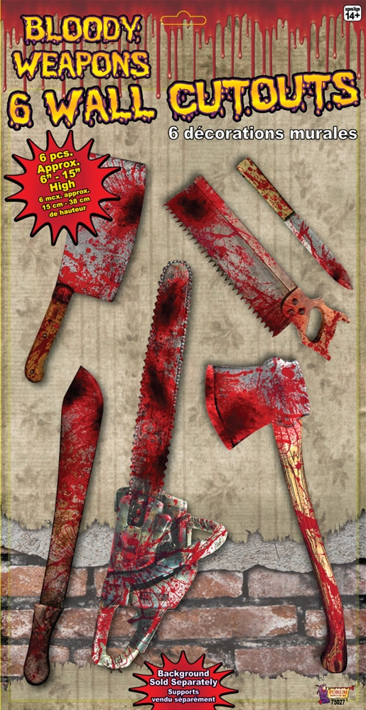 Bloody Weapon Wall Cutout Set