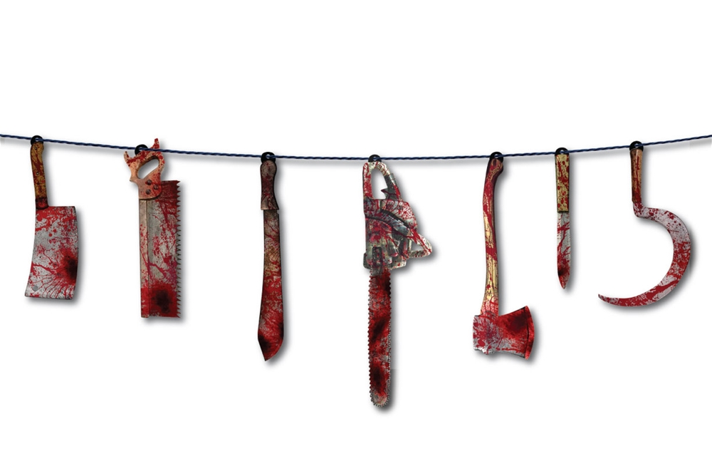 Bloody Weapon Garland 6ft