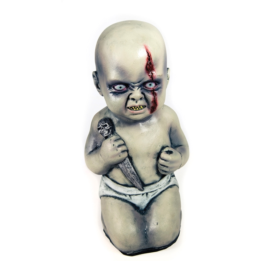Evil Baby Prop with Knife