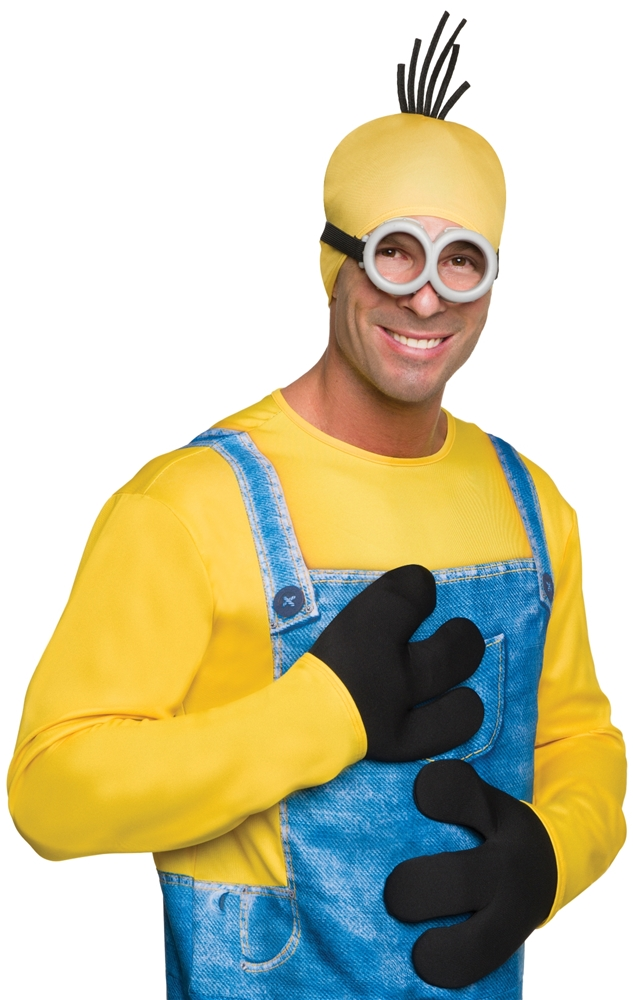 Minion King Adult Mens Gloves