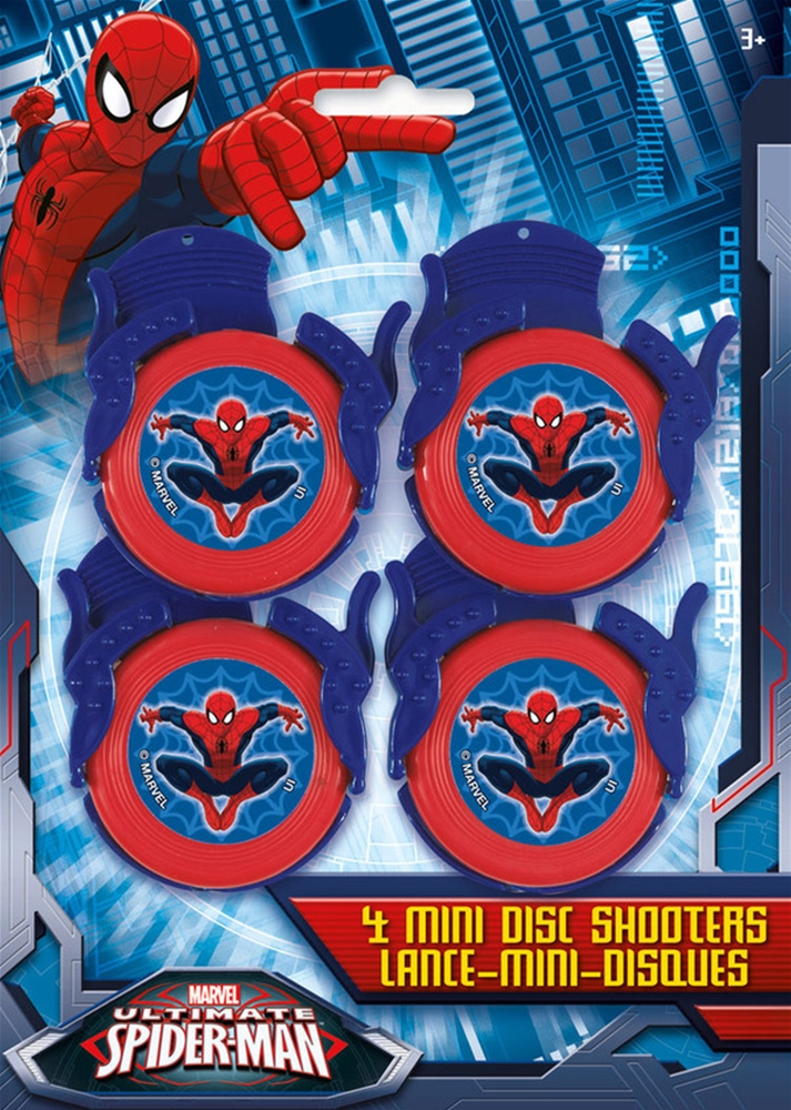 Spider-Man Mini Disc Shooters 4ct by Unique Industries Inc
