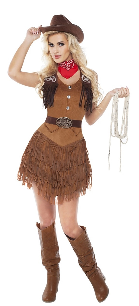 Silver Star Cowgirl Adult Womens Costume (Cowgirl Costume Women)