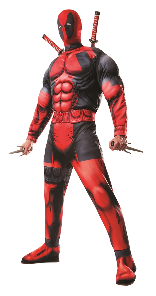 Deadpool Deluxe Fiber Filled Adult Mens Costume