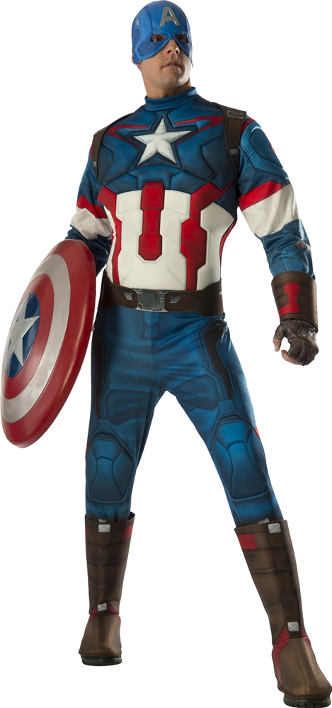 Avengers 2: Age of Ultron Deluxe Captain America Adult Mens Costume