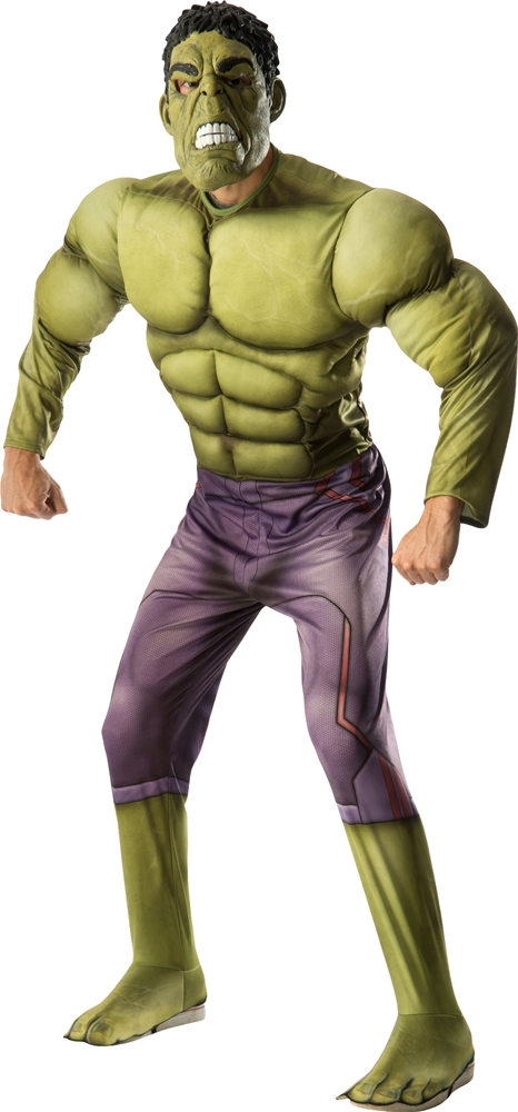 [Avengers 2: Age of Ultron Deluxe Hulk Adult Mens Costume] (Hulk Costumes Adults)