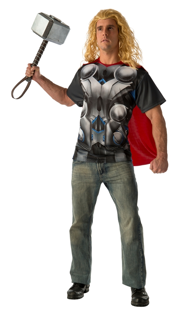 Avengers 2: Age of Ultron Thor Adult Mens T-Shirt & Mask