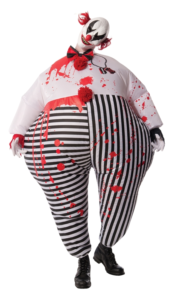 Inflatable Evil Clown Adult Mens Costume