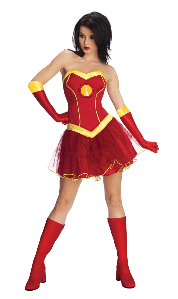 Iron Woman Rescue Tutu Dress Adult Womens Costume