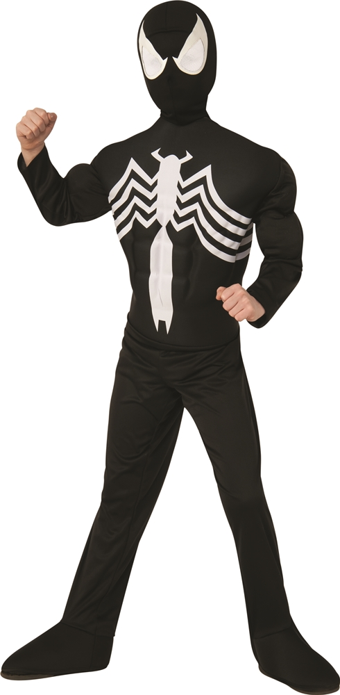 Black Suited Deluxe Spider-Man Muscle Child Costume 880601