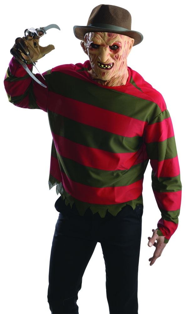 Freddy Krueger Adult Shirt & Mask Set