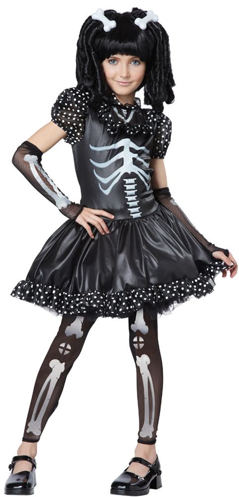 Skeleton Girl Child Costume by California Costumes