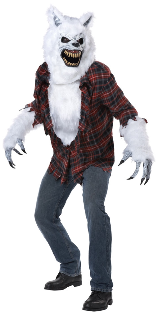 White Lycan Werewolf Adult Mens Costume