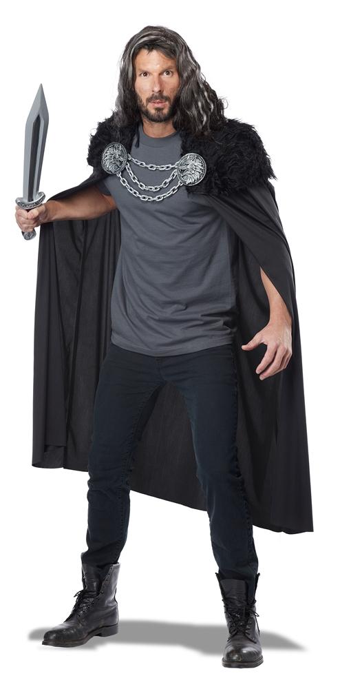 Wolf Clan Warrior Black Cape