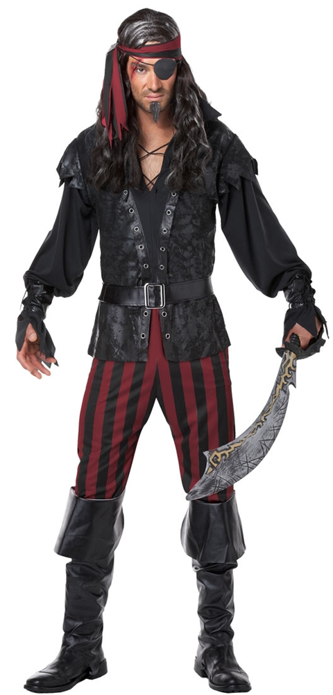 Ruthless Rogue Pirate Adult Mens Costume by California Costumes