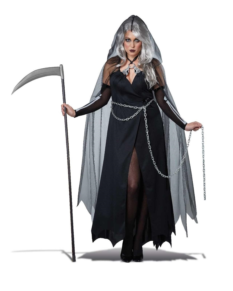 [Lady Reaper Adult Womens Plus Size Costume] (Lady Reaper Costumes)