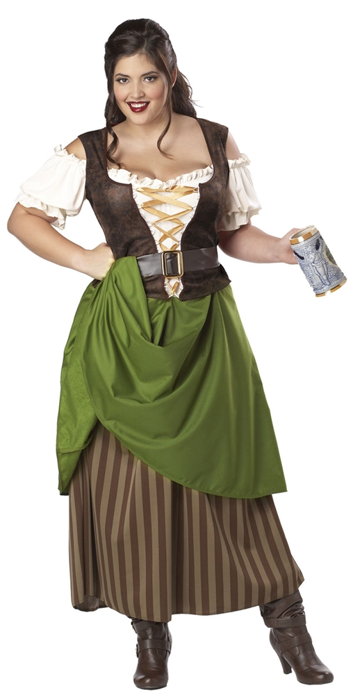 Tavern Maiden Adult Womens Plus Size Costume
