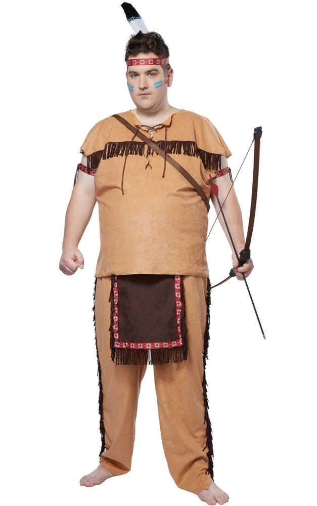 Native American Brave Adult Mens Plus Size Costume